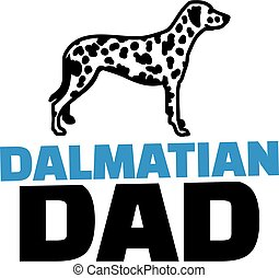 Dalmatian dad with dog silhouette