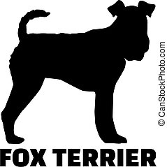 Fox Terrier with breed name