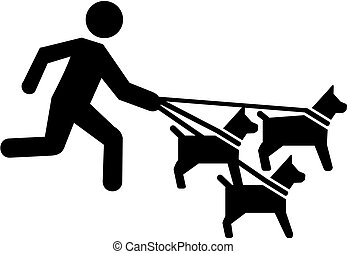 Dog sitter pictogram