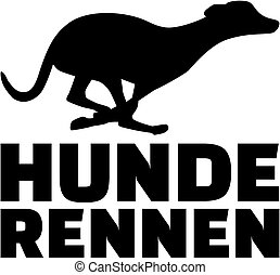 Greyhound Dog Racing german word