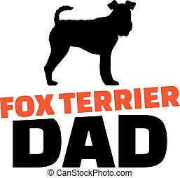 Fox Terrier dad with dog silhouette
