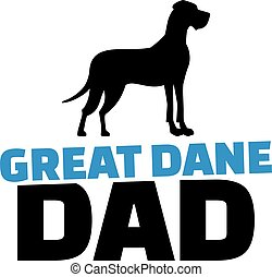 Great dane dad with dog silhouette