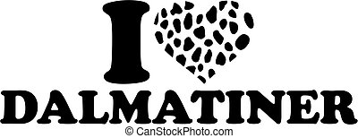 I love Dalmatian german with spotted heart