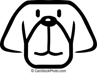 Cartoon dog head
