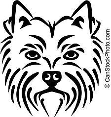 West Highland Terrier head