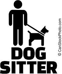Dog sitter icon