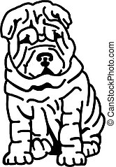 Shar pei with lots of wrinkles
