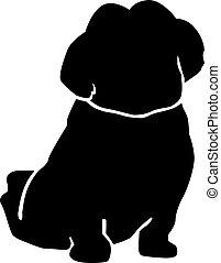 Shih Tzu silhouette