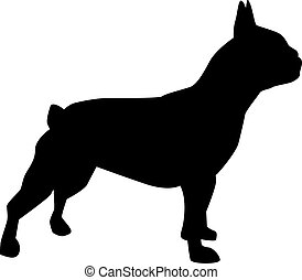 French bulldog silhouette