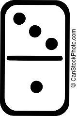 White domino tile