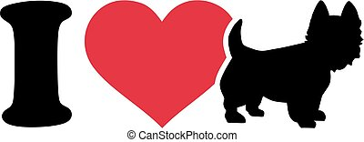 I love my West Highland Terrier icon
