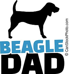 Beagle dad with dog silhouette