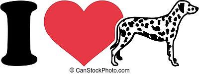 I love Dalmatian icon