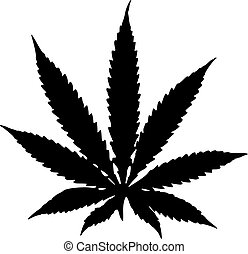 Marijuana hemp leaf