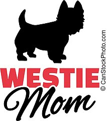 Westies Mom with dog silhouette