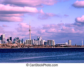 Toronto Lake beautiful panorama 2017 - Beautiful panorama of...