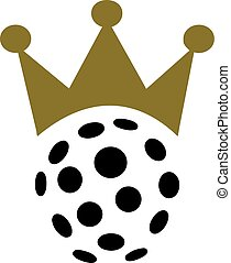 Floorball with crown