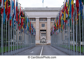 Place of United Nations in Geneva Switzerland