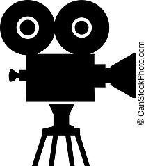 Movie camera symbol