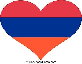 Armenia flag heart