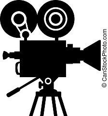 Movie camera silhouette
