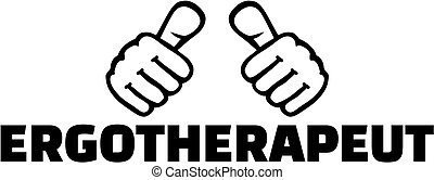 German occupational therapist with thumbs. T-Shirt design.
