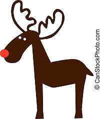 Elk comic with red nose