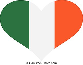 Heart in colors of the irish flag