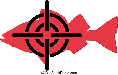 Red fish with crosshair