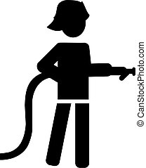 Firefighter Pictogram