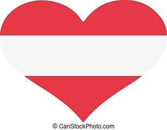 Austria flag heart