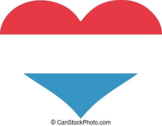 Luxembourg flag heart