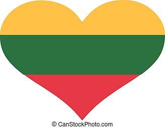 Lithuania flag heart