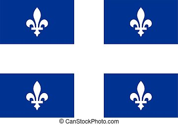 Flag of quebec - province of canada
