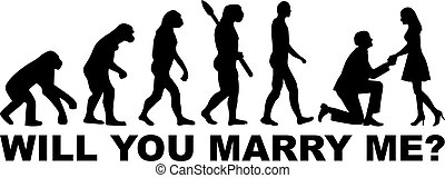Evolution proposal - Will you marry me