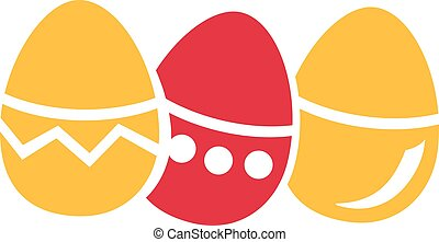 Colorfull easter eggs