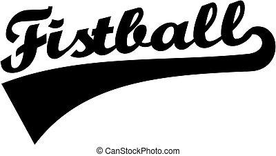 Fistball word retro
