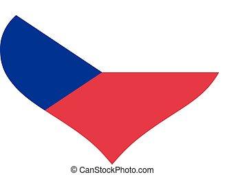 Czech Republic flag heart