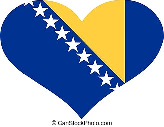 Bosnia-Herzegovina flag heart