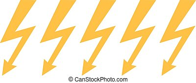 Lightning bolts in a line