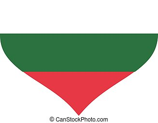 Bulgaria flag heart