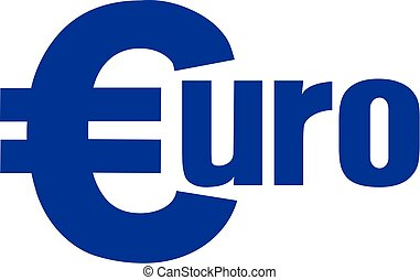 Euro with currency euro sign