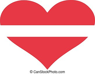 Latvia flag heart
