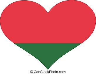 Belarus flag heart