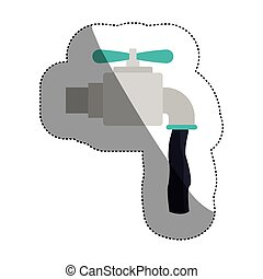 Isolated tap design - Tap icon. Faucet ecology water drink...