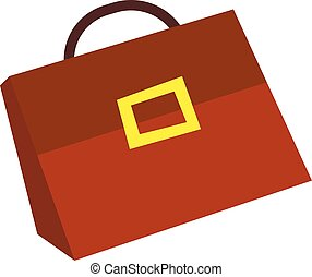 Suitcase money in flat style,  with  concept., business illustration.