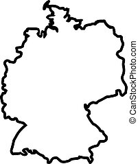Germany map contour