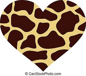 Heart with giraffe pattern