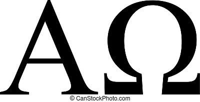 Greek alpha and omega sign