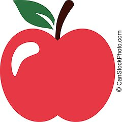 Red perfect ripe apple